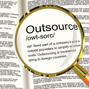 13564557 - outsource definition magnifier shows subcontracting suppliers and freelance